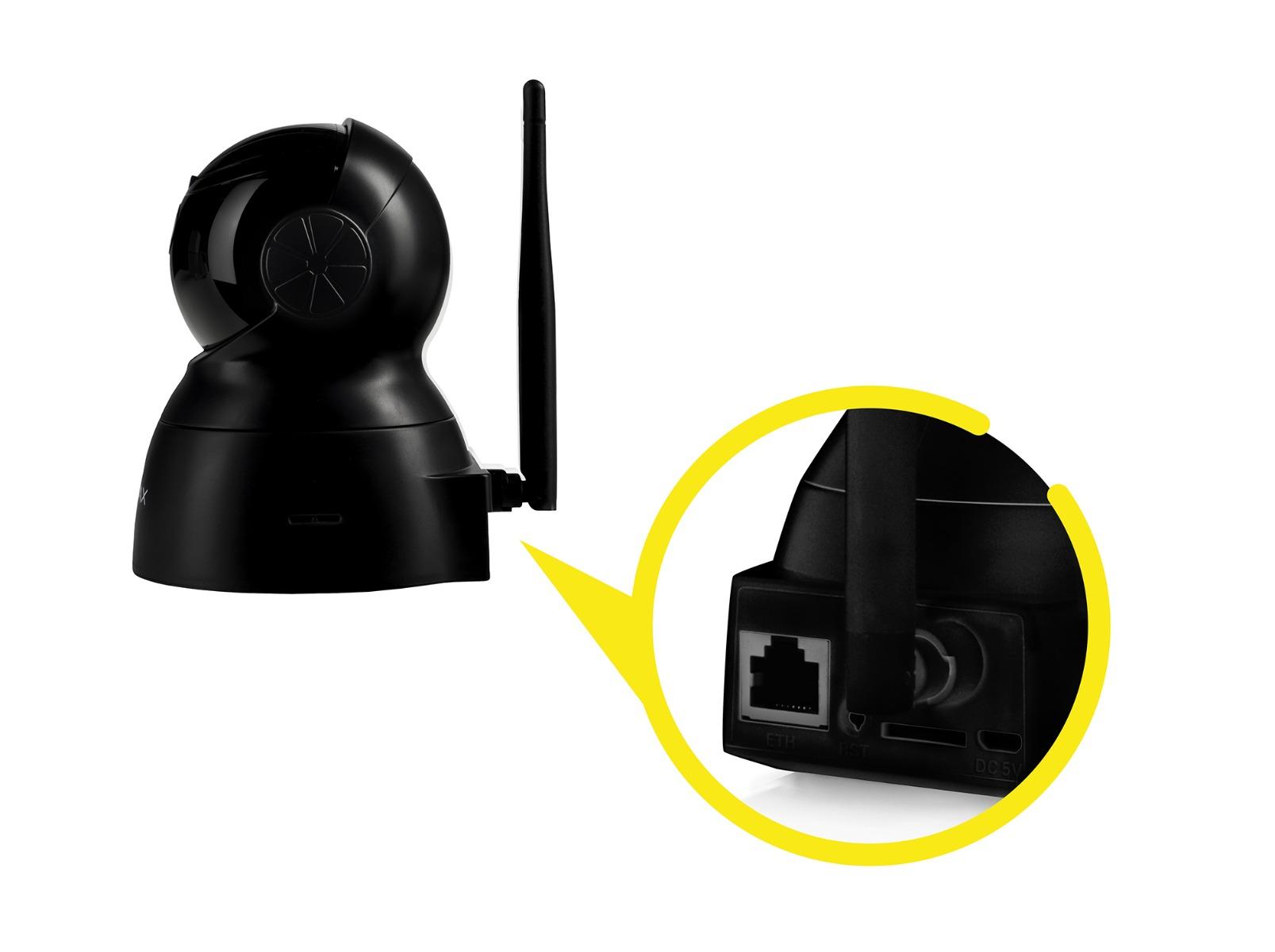 Vnútorná čierna IP kamera Overmax Camspot 3.5
